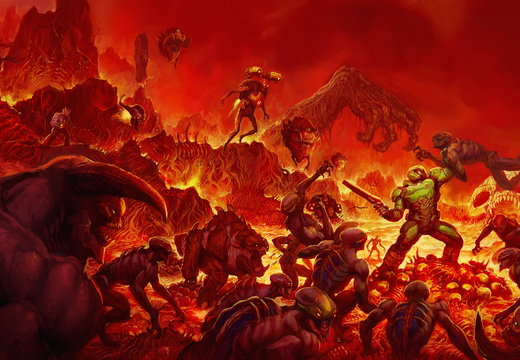 Doom(2016) classic artwork