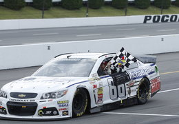 Dale Jr. sweeps Pocono 2014
