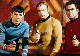 Kirk, Spock, and Scotty