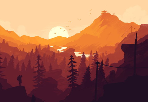 4k Firewatch Wallpaper