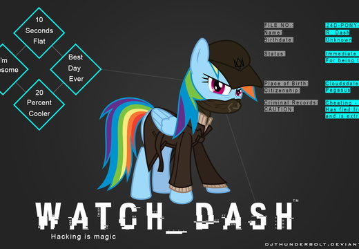 WATCH DASH - MLP/WATCH DOGS