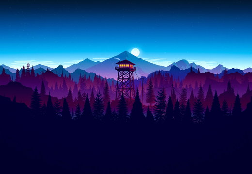 Firewatch - Tower - Night