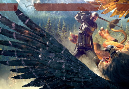 Witcher 3 Griffin with HUD readjusted