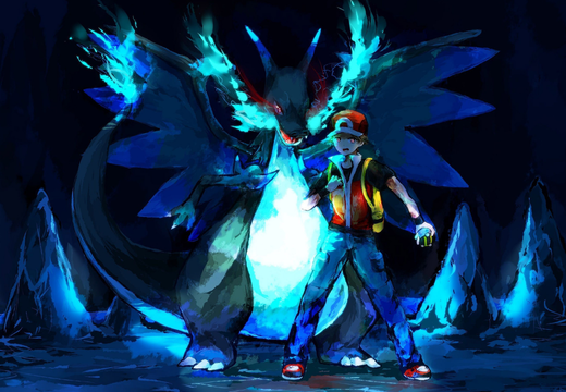 Pokemon Mega CharizardX ft. Red