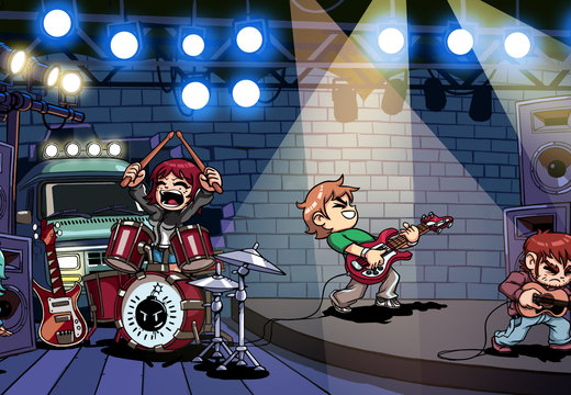 Scott Pilgrim rockin out