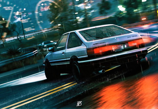 Initial D AE86 Drifting on Mount Akina