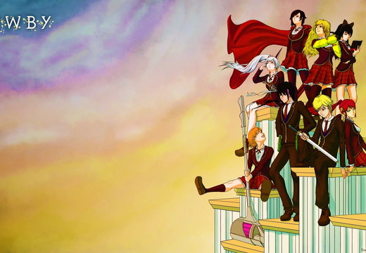 RWBY Volume 2 Character Group Up