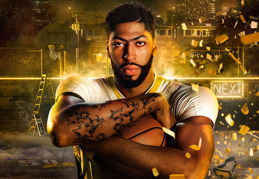 Anthony Davis Gold NBA2K20 Wallpaper