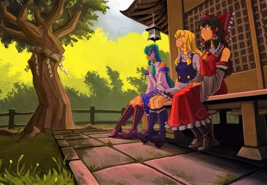Touhou Project Main Protagonists