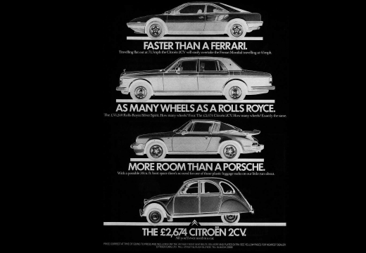 Citroën 2cv advert (inverted)